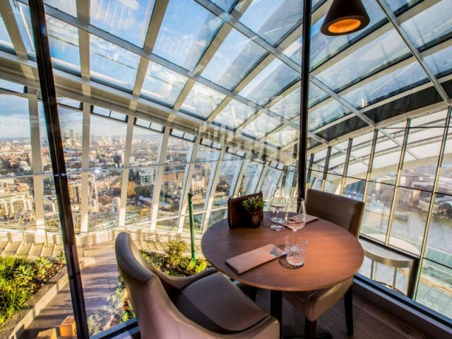 """Des espaces restauration pour 400 clients - Inauguration du """"Sky Garden"""" à Londres"""