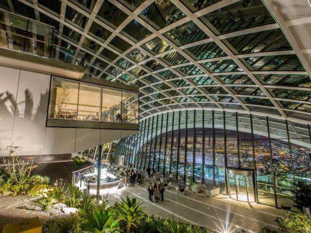 """Une zone comme un terminal d'aéroport - Inauguration du """"Sky Garden"""" à Londres"""