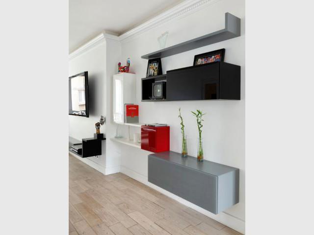 Des rangements pratiques sur-mesure  - Un appartement fonctionnel et rafraichissant aux touches de couleurs pop