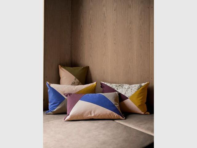 Coussins marbre et couleurs