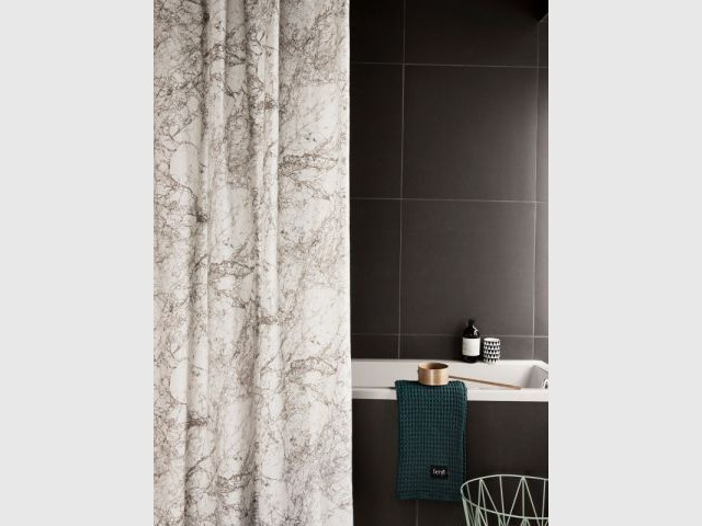 Rideau de douche marbre