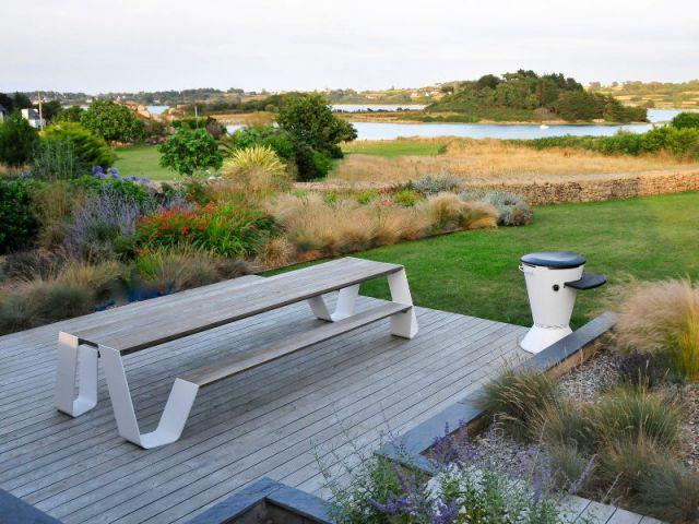Une maison de vacances avec vue sur la mer - Une longère bretonne devenue demeure design