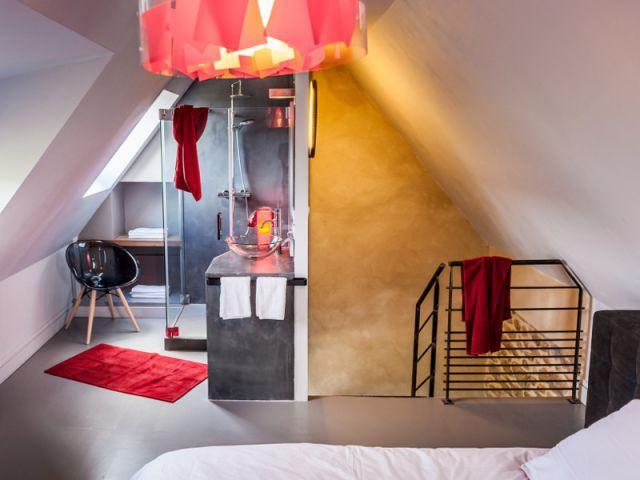 Des chambres monochromes dans les moindres détails - Une longère bretonne devenue demeure design