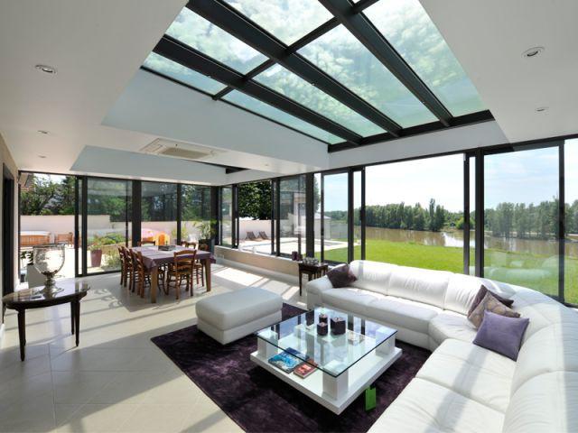Des toitures ponctuées de panneaux pleins et vitrés - Les vérandas en 2015