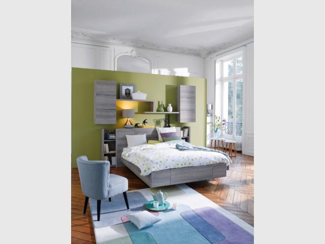 Installer une cloison pour ne pas abimer les murs - Aménager une chambre dans un appartement de style