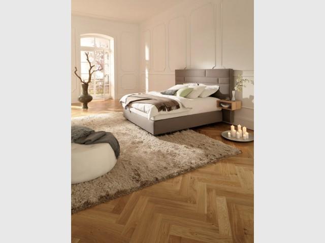 Habiller le sol pour réchauffer la pièce - Aménager une chambre dans un appartement de style