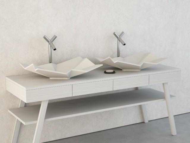 Des vasques comme du papier froissé - Jeux de pliage