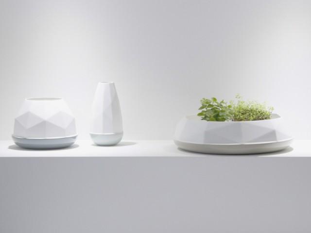 Des vases à facettes à la fois ronds et anguleux  - Jeux de pliage