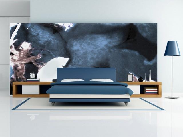 Une tête de lit de verre pour une ambiance romantique - Art contemporain sur verre