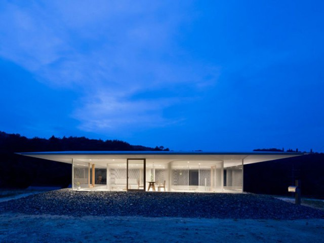 Vue de nuit - Maison transparente - Suppose Design