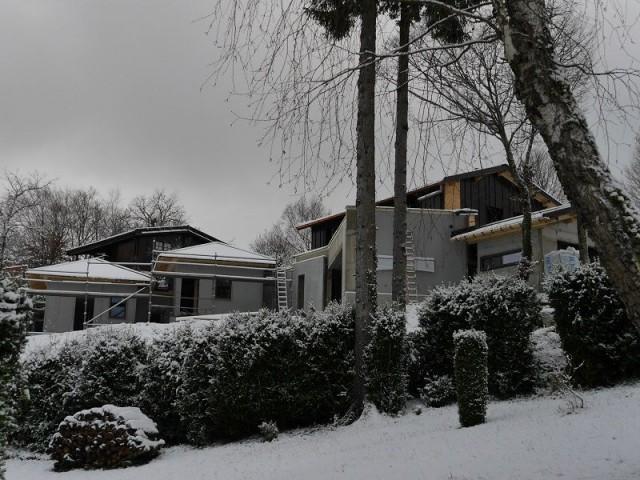 Un chantier soumis aux conditions climatiques - Chalet Jura