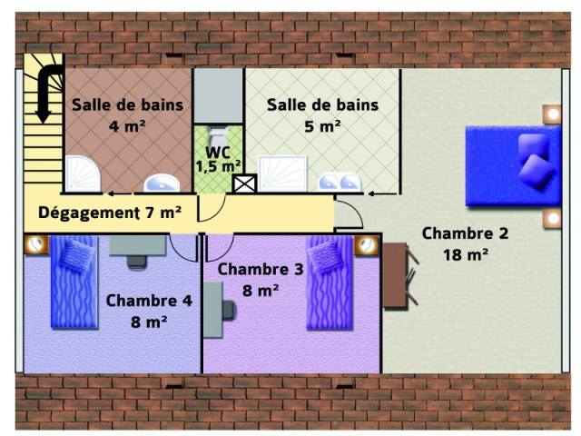 Création d'un étage avec trois chambres et deux salles de bains - Un pavillon change de toiture et gagne 70 m2