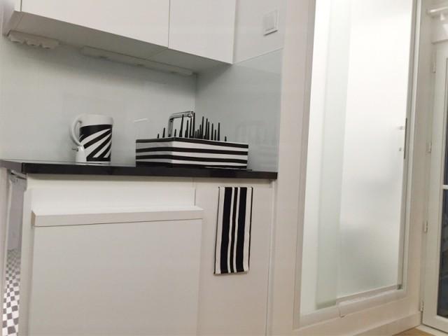 Zone cuisine/salle de bains après travaux - Rénovation studio