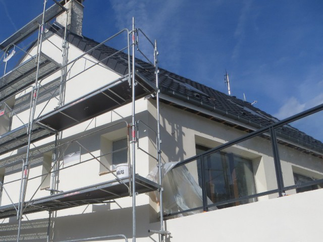 Une toiture entièrement rénovée - Système d'isolation par l'extérieur