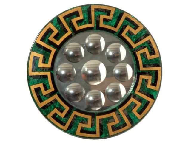 Un miroir à bulles inspiré de la Grèce antique - Exposition Fornasetti aux Arts Déco