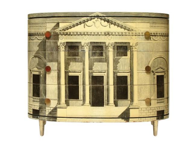 Une commode comme un mini-bâtiment d'Andrea Palladio - Exposition Fornasetti aux Arts Déco