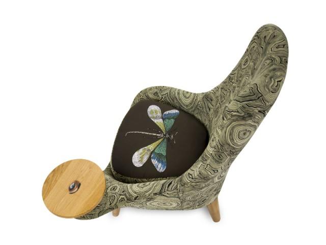 Un fauteuil hommage à l'artiste - Exposition Fornasetti aux Arts Déco