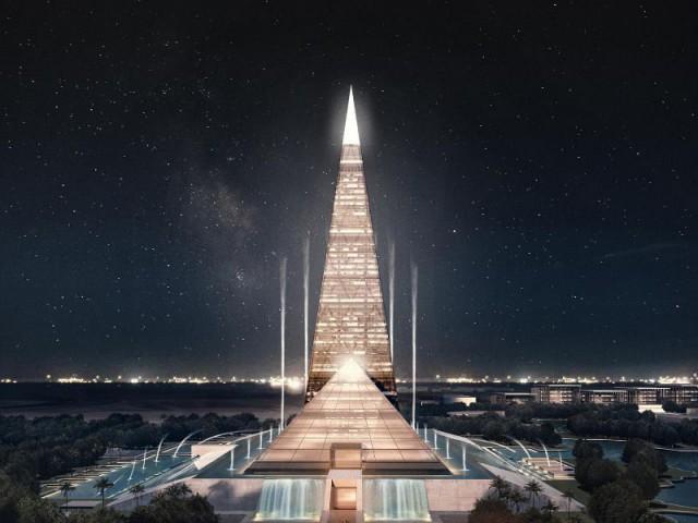 Une future tour pyramidale en Egypte