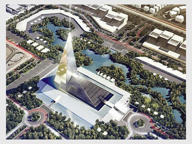 Un gratte-ciel bâti en banlieue ouest du Caire - Une future tour pyramidale en Egypte