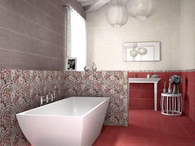 Des carreaux de ciment au mur de la salle de bains - Les carreaux de ciment dans la déco