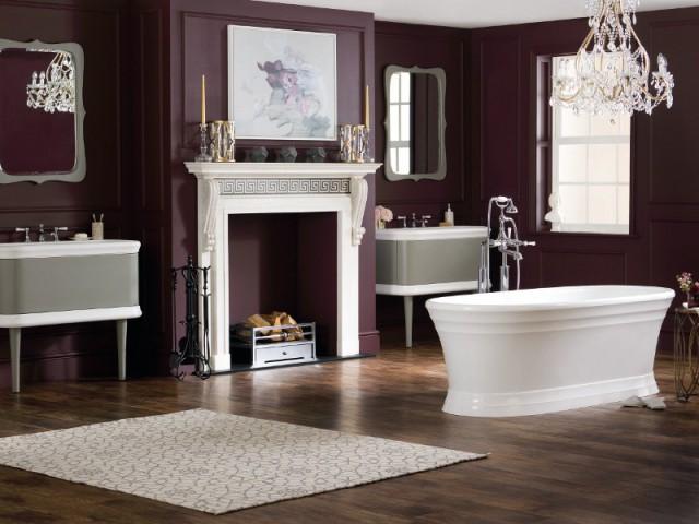Une salle de bains rétro fastueuse et féminine - Salle de bains rétro
