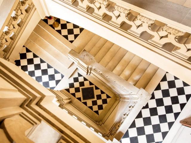 Hôtel de Lauzun : escalier d'honneur