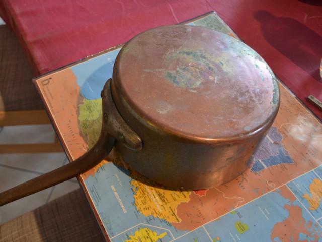 Avant : Une casserole en cuivre patinée - Concours Copper upcycling