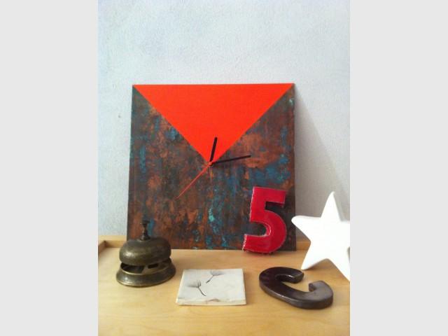 Après : Une horloge pop minimaliste - Concours Copper upcycling