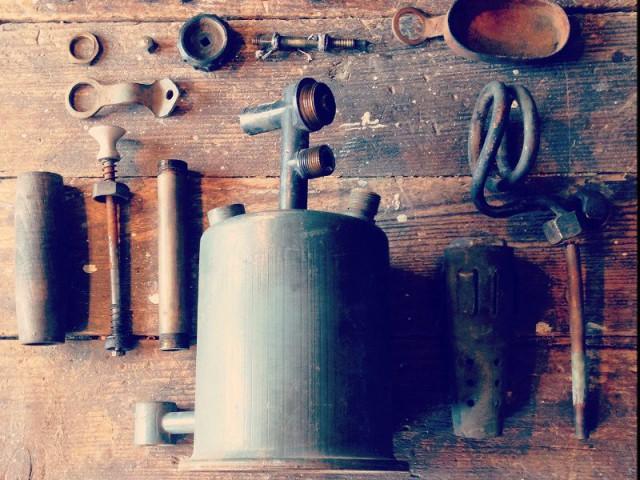 Avant : Un chalumeau en laiton d'un autre temps - Concours Copper upcycling