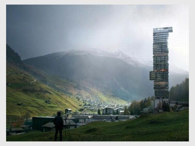 Un hôtel au coeur des montagnes - Tour Thom Mayne - Vals/Stoffel