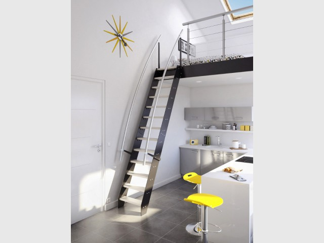 petits espaces un escalier gain de place pour mon int rieur. Black Bedroom Furniture Sets. Home Design Ideas