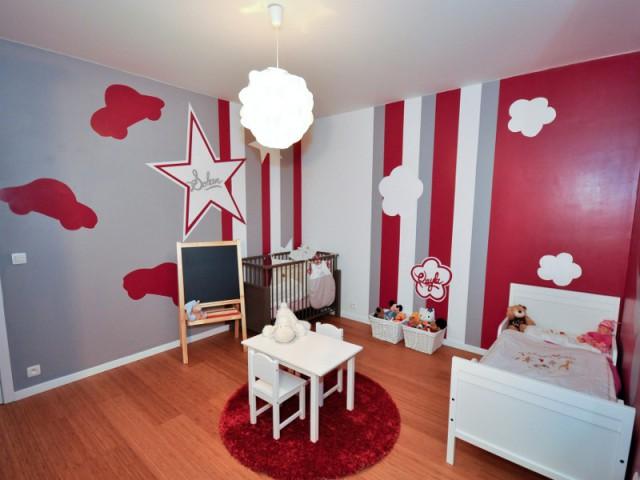 Une décoration mixte pour une chambre d'enfants - Le design mural, solution pour dynamiser les intérieurs