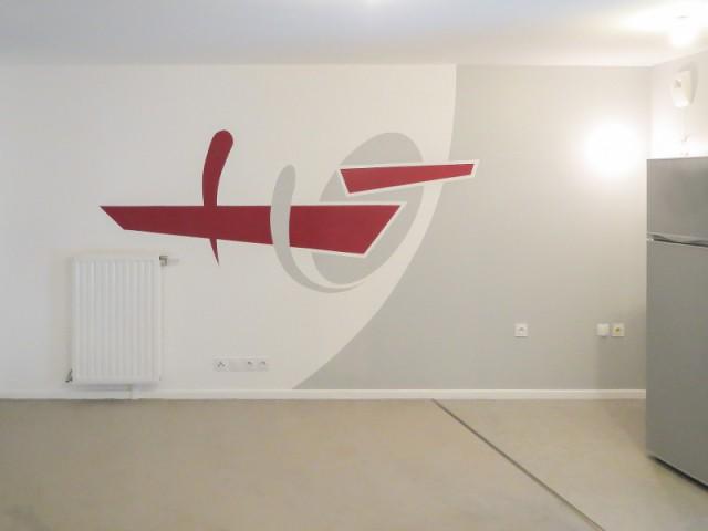 Un jeu de couleurs pour délimiter les zones d'un appartement 2/2 - Le design mural, solution pour dynamiser les intérieurs