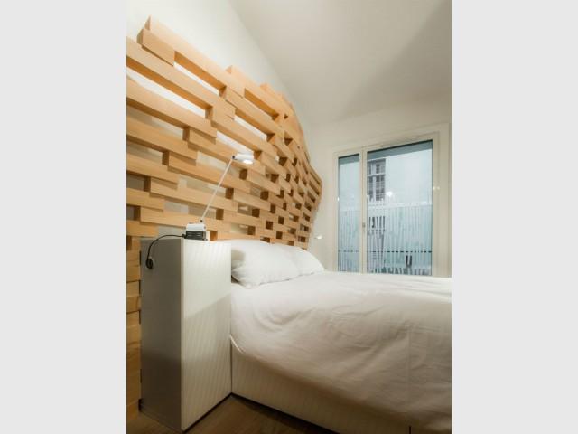 Une deuxième vague dans la chambre - Un appartement parcouru par une vague en bois