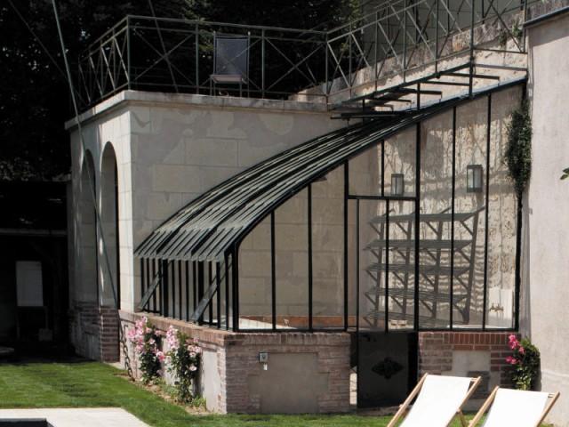 Rénovation de l'orangerie - Piscine Carré Bleu / Paysage piscine tennis
