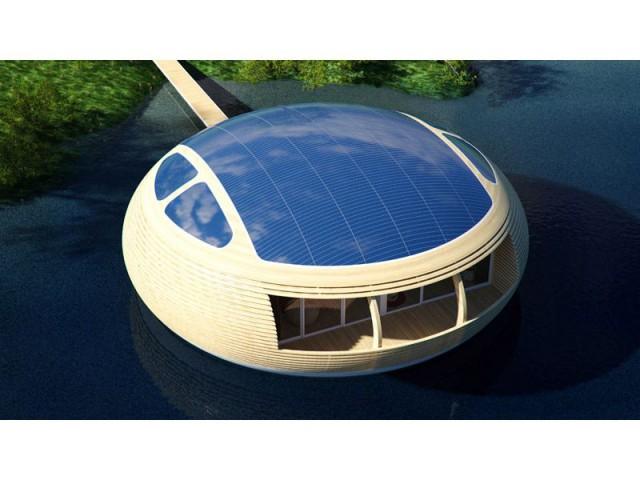 Une maison en matériaux recyclés - WaterNest 100
