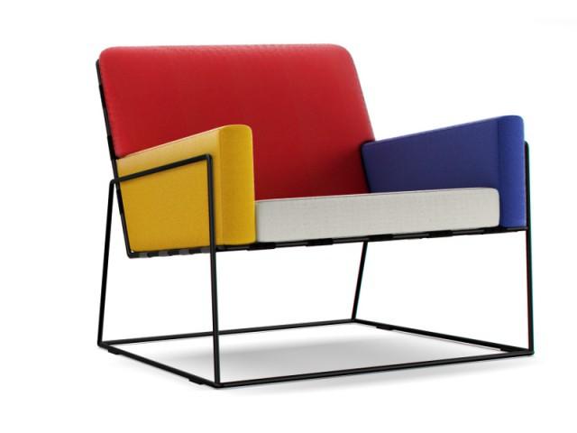 Un fauteuil coloré hommage à Mondrian  - Fauteuil