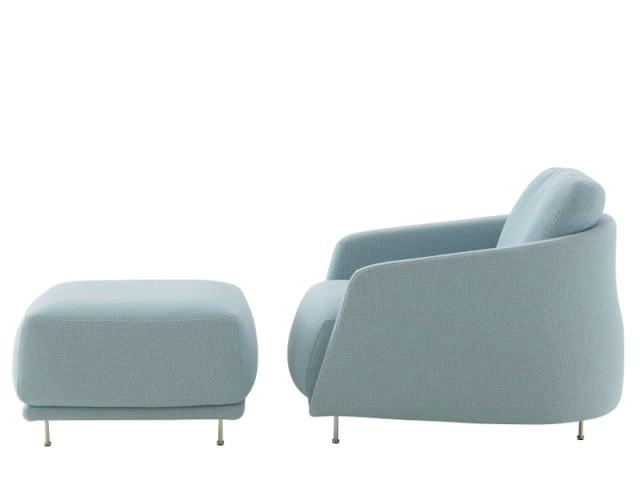 Un fauteuil profond avec repose-pied dans lequel se lover  - Fauteuil