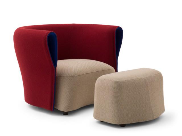 Un fauteuil compact aux lignes douces - Fauteuil