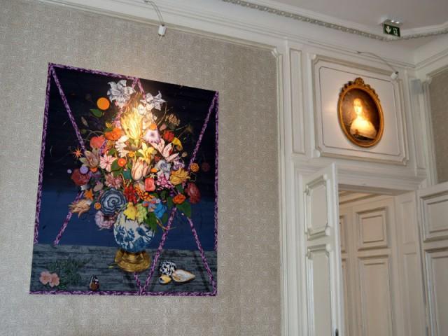 Les portraits des premiers propriétaires, conservés dans le bar - Hôtel Clarance***** à Lille