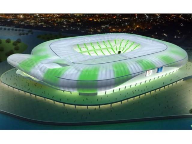 Timsah Arena, le nouveau crocodile du football turc - Un stade en forme de crocodile sort de terre