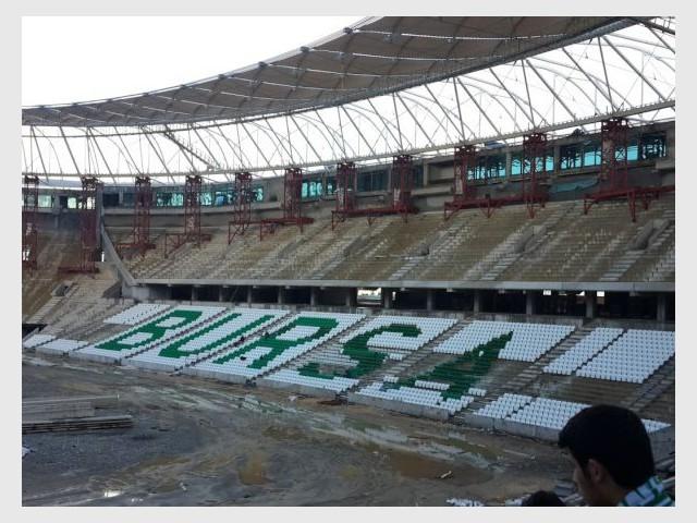 L'écrin de football doit être inauguré en mai prochain - Un stade en forme de crocodile sort de terre