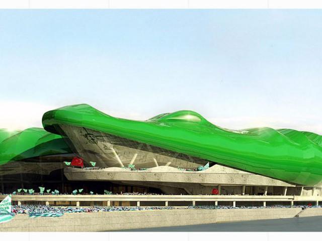 Le projet rend hommage au surnom des supporters de Bursaspor  - Un stade en forme de crocodile sort de terre