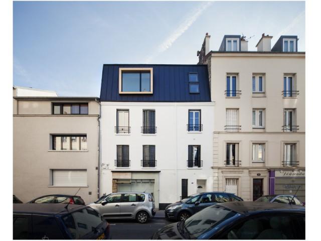 Après : création d'un duplex - Surélévation en milieu urbain dense