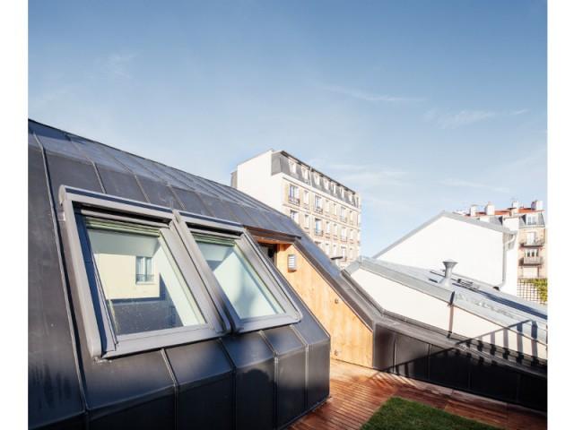 Une terrasse de 12 m2 - Surélévation en milieu urbain dense