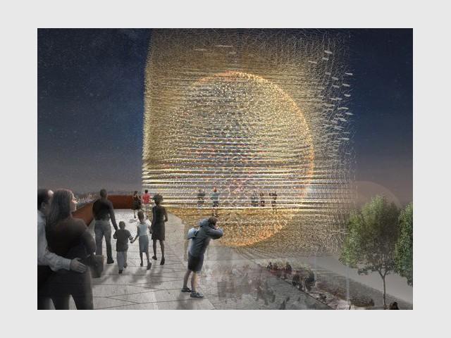 Le pavillon britannique : inspiré d'une ruche - Expo universelle Milan