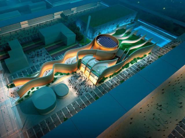 Le pavillon émirati : sable et vent - Exposition universelle Milan