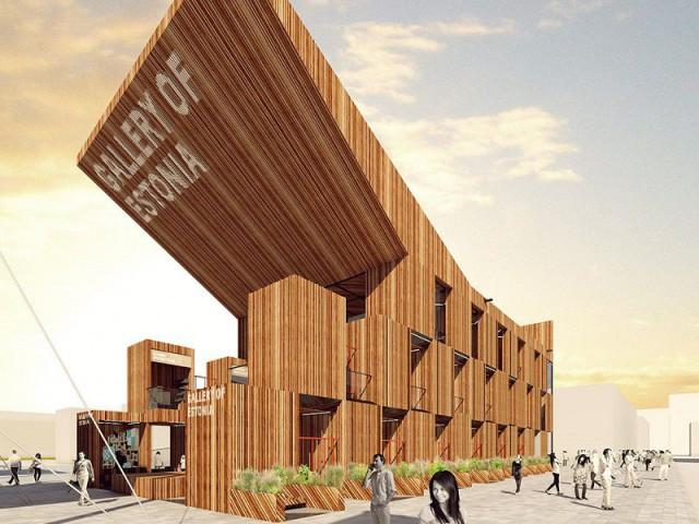 Le pavillon estonien : une galerie de balançoires - Exposition universelle Milan