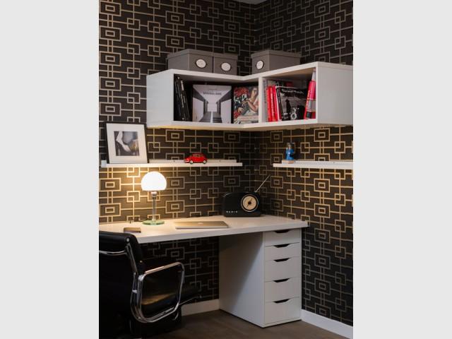 Un bureau graphique - Un appartement neuf s'invente une âme industrielle