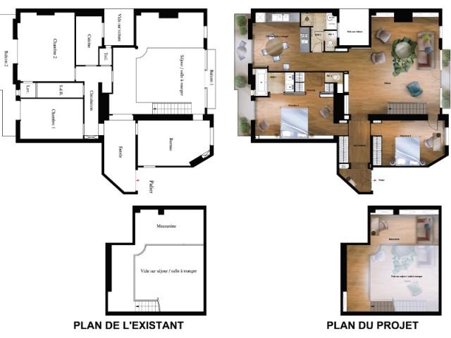 Une nouvelle cuisine spacieuse et lumineuse - Atelier d'artistes Paris 14e